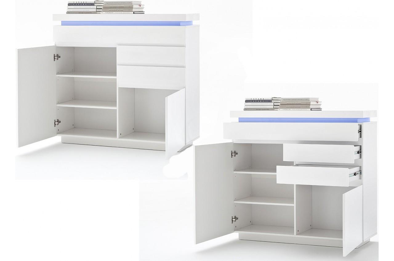 commode design blanche laqu e cbc meubles. Black Bedroom Furniture Sets. Home Design Ideas