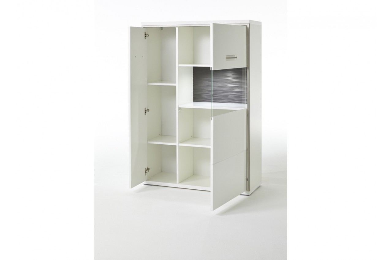 meuble tv mural contemporain blanc cbc meubles. Black Bedroom Furniture Sets. Home Design Ideas
