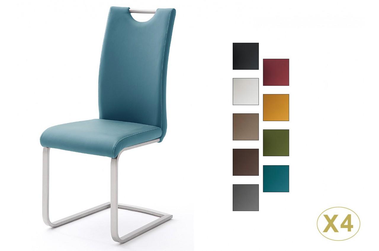 chaises modernes avec poign e dossier cbc meubles. Black Bedroom Furniture Sets. Home Design Ideas