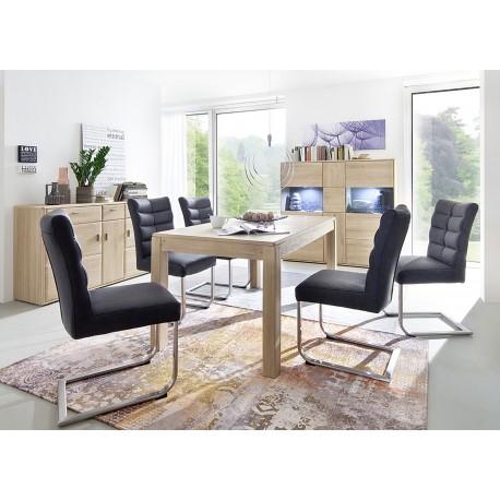 Salle manger moderne bois massif cbc meubles - Meuble moderne salle a manger ...