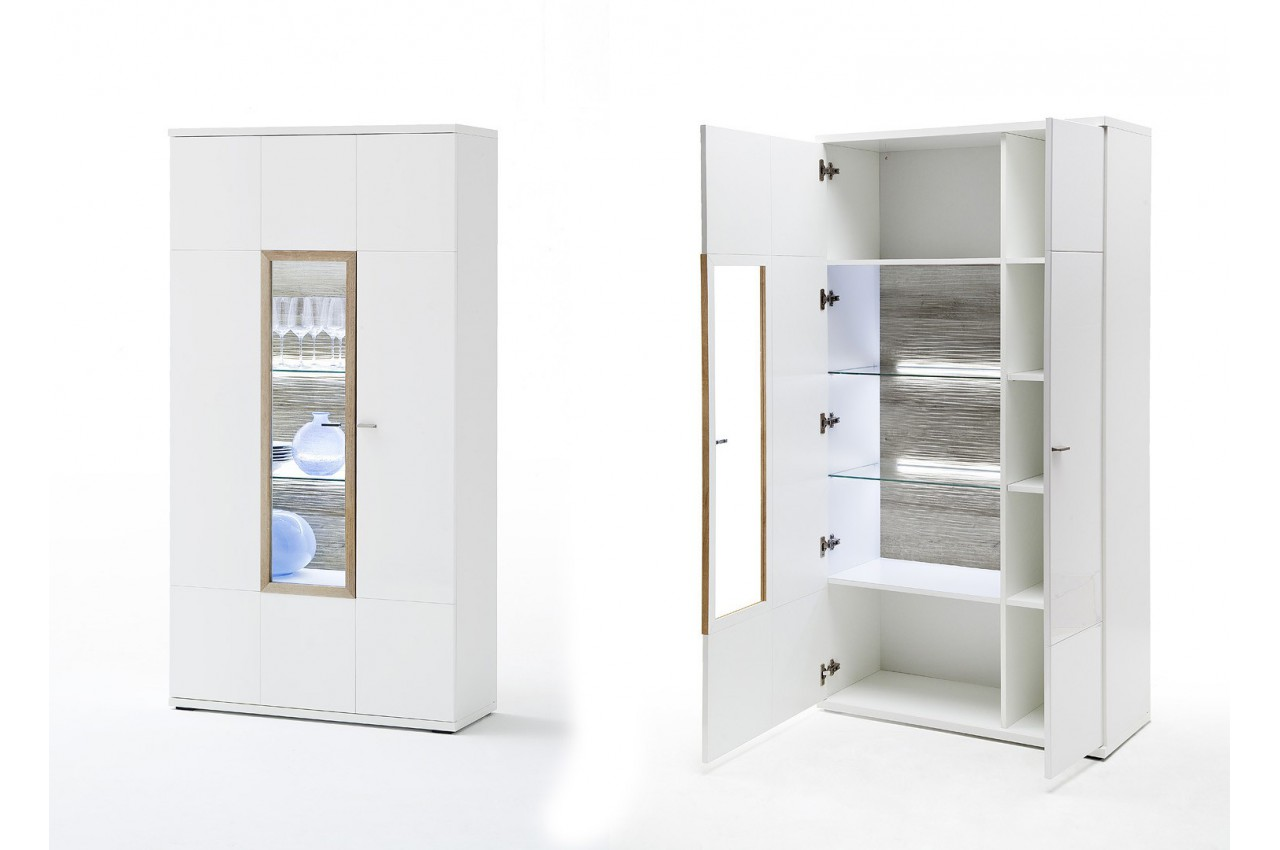 salle manger design blanche et d cor bois cbc meubles. Black Bedroom Furniture Sets. Home Design Ideas