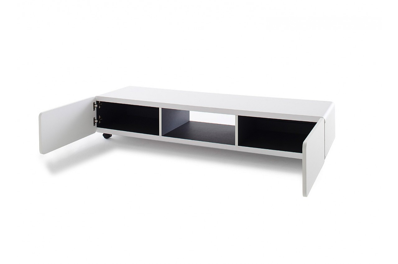 meuble tv blanc pas cher cbc meubles. Black Bedroom Furniture Sets. Home Design Ideas