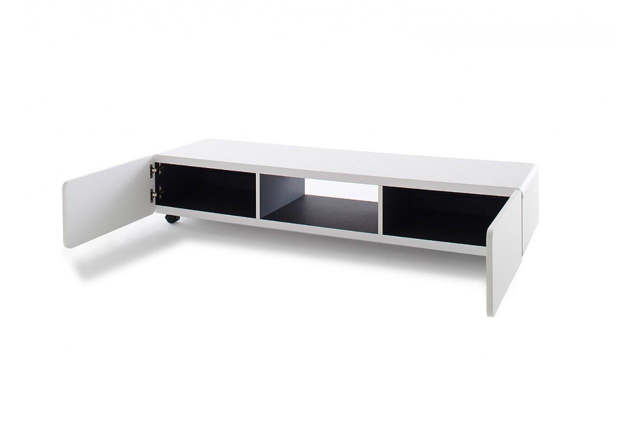 Meuble tv blanc pas cher cbc meubles for Meuble tv moderne pas cher