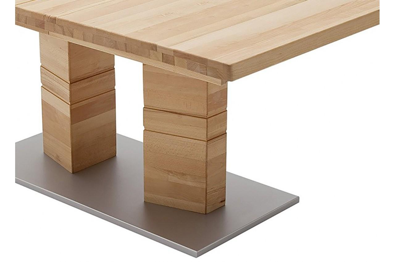 Table repas bois massif rectangulaire 180 270 cm cbc meubles - Table repas bois massif ...