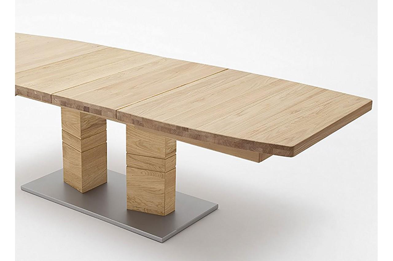 table repas bois massif plateau bateau 140 220 cm cbc meubles. Black Bedroom Furniture Sets. Home Design Ideas