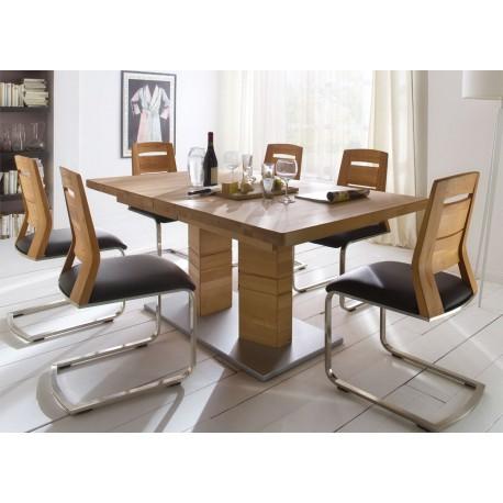 Table repas bois massif 140-220 cm