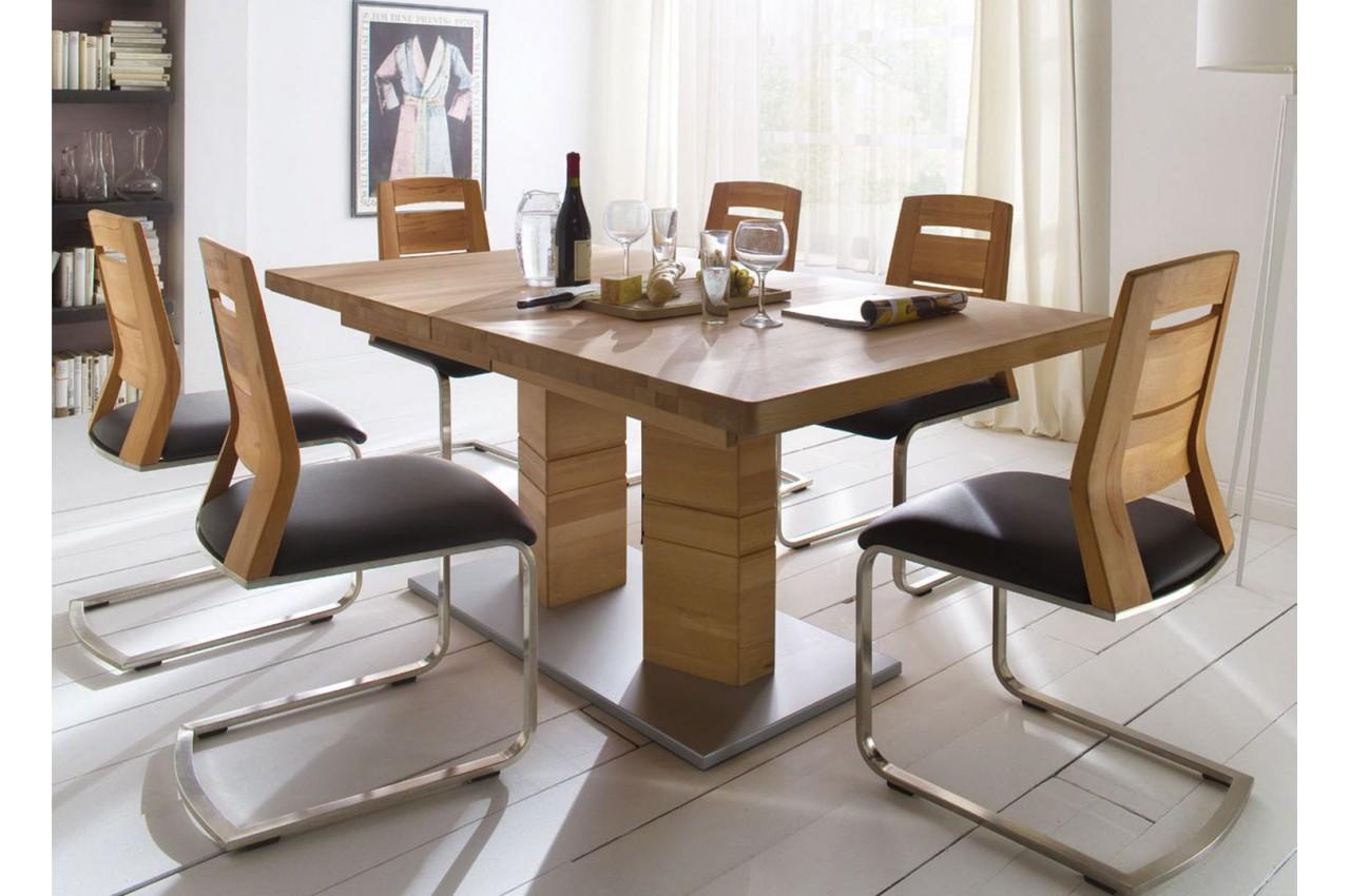table repas bois massif rectangulaire 140 220 cm cbc meubles. Black Bedroom Furniture Sets. Home Design Ideas