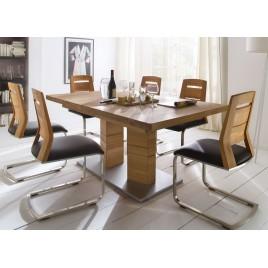 Table repas bois massif rectangulaire 180-270 cm