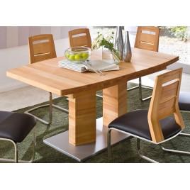 Table repas bois massif plateau bateau 140-220 cm