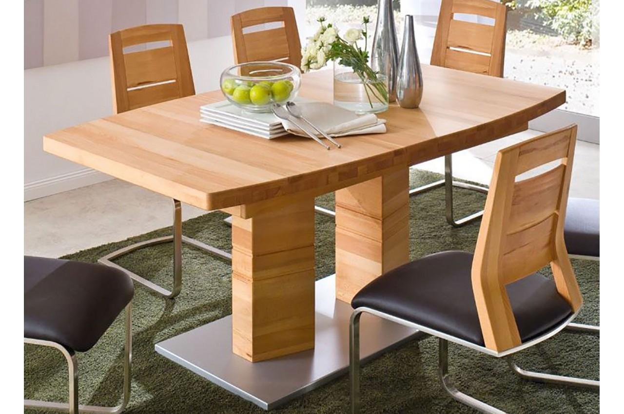 table repas bois massif plateau bateau 140 220 cm cbc. Black Bedroom Furniture Sets. Home Design Ideas
