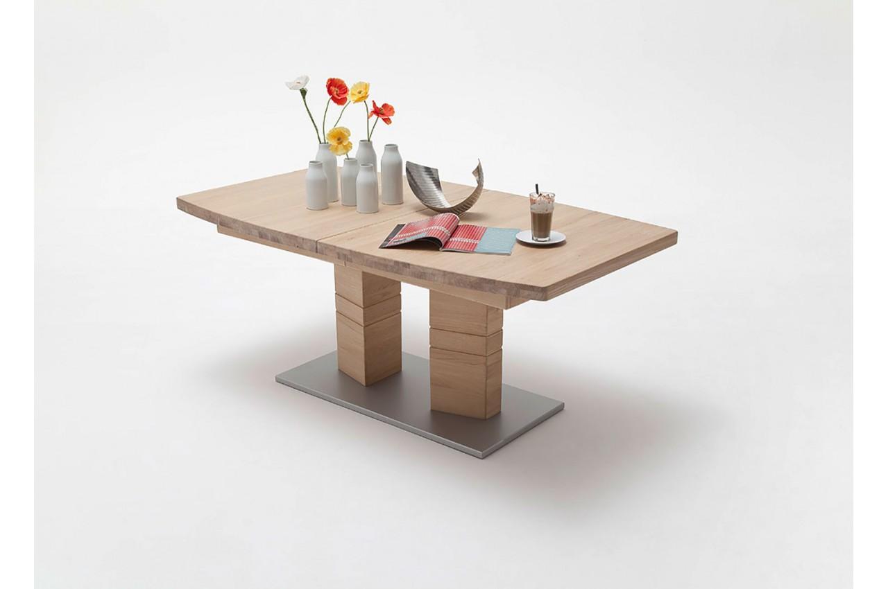 table repas bois massif plateau bateau 180 270 cm cbc meubles. Black Bedroom Furniture Sets. Home Design Ideas