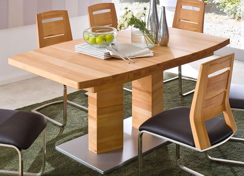 Table repas bois massif plateau bateau 180-270 cm