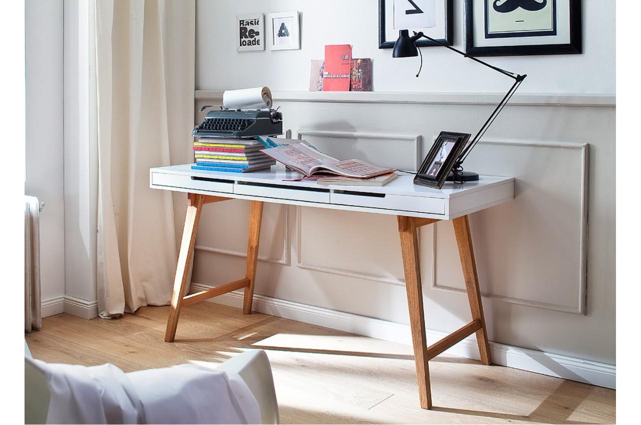 table console design bois massif et blanche cbc meubles. Black Bedroom Furniture Sets. Home Design Ideas