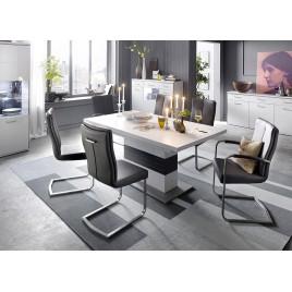 Table repas design blanche et grise