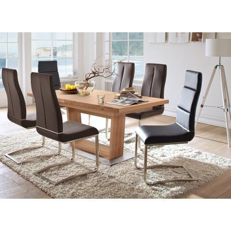 Table repas bois massif 140-220 cm extensible