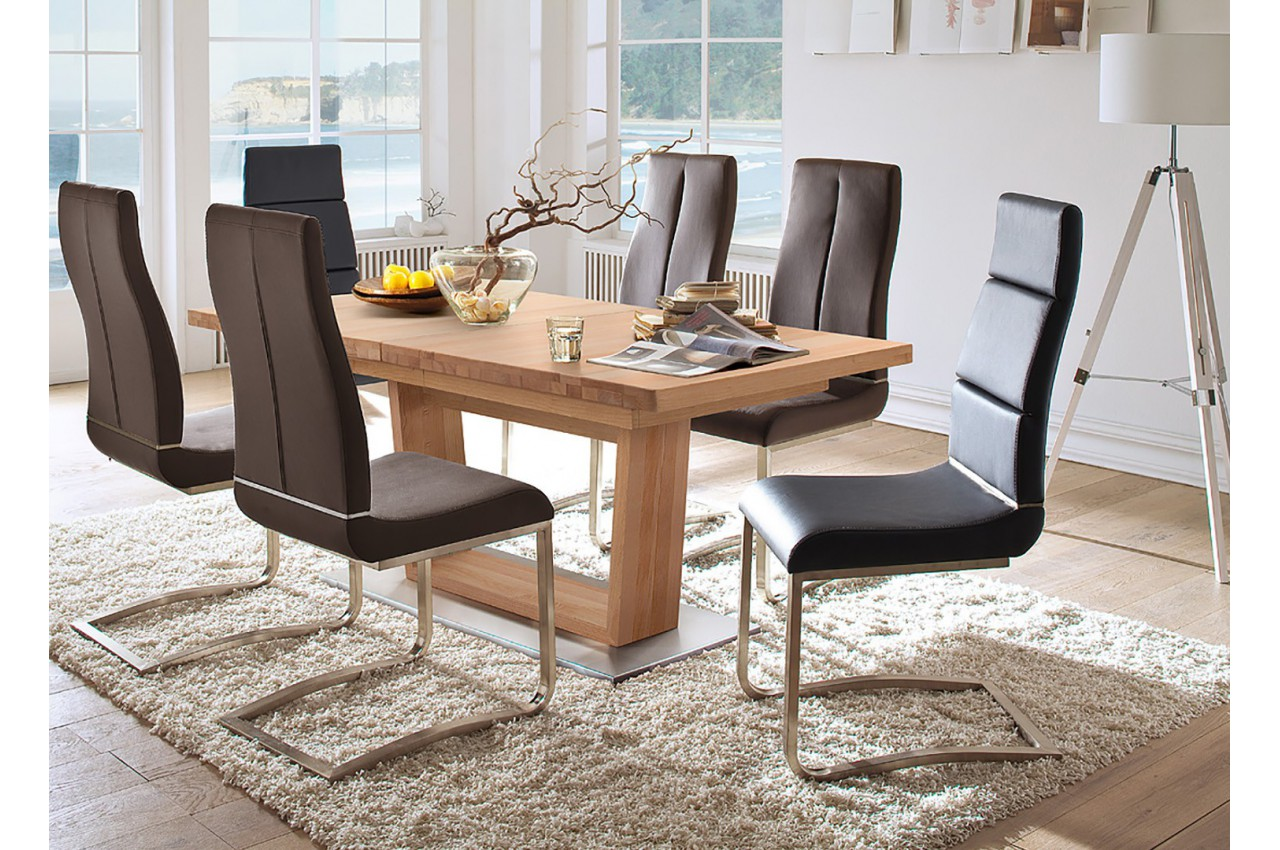 table repas bois trendy awesome table console extensible bois massif console extensible en. Black Bedroom Furniture Sets. Home Design Ideas