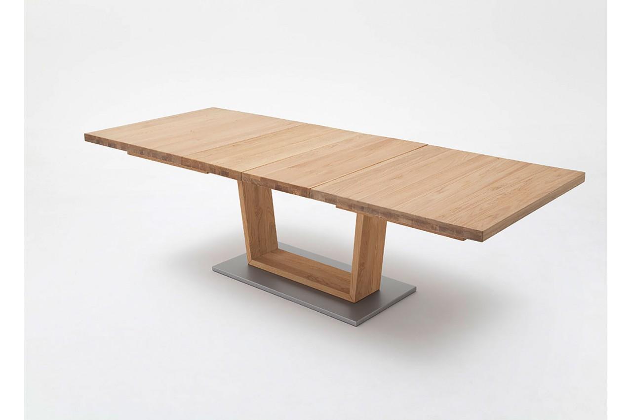 table repas bois massif 180 270 cm extensible cbc meubles. Black Bedroom Furniture Sets. Home Design Ideas