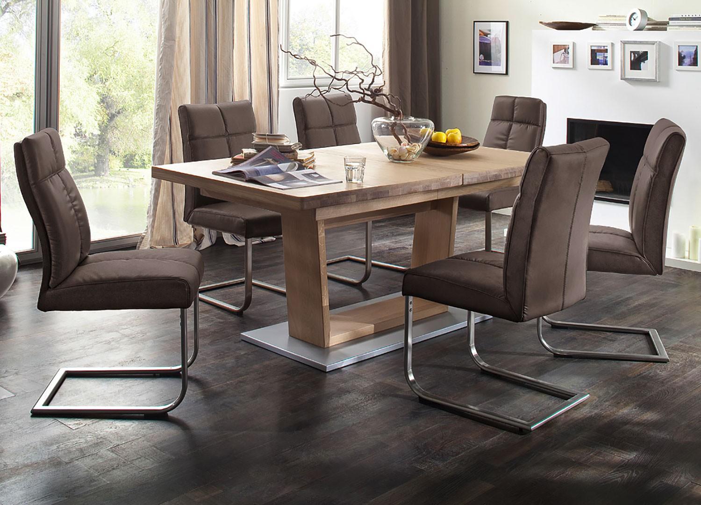 Table repas bois massif 180-270 cm extensible