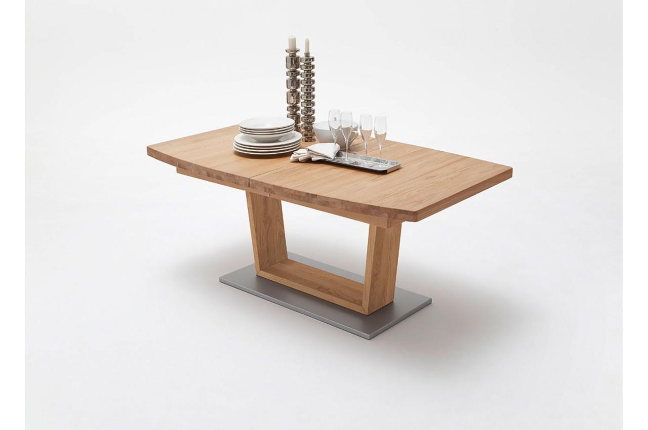 Table repas bois massif ovo dale 140 220 cm extensible - Table repas bois massif ...