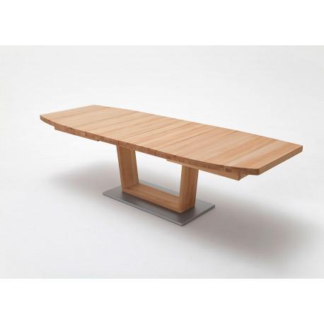 Table repas bois massif ovoïdale 140-220 cm extensible