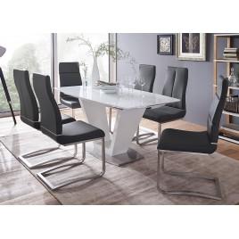 Table repas design extensible blanche