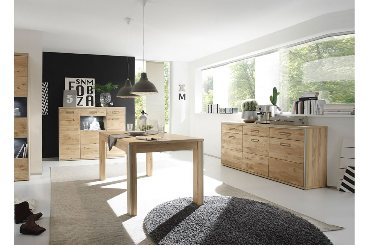 salle manger bois compl te cbc meubles. Black Bedroom Furniture Sets. Home Design Ideas