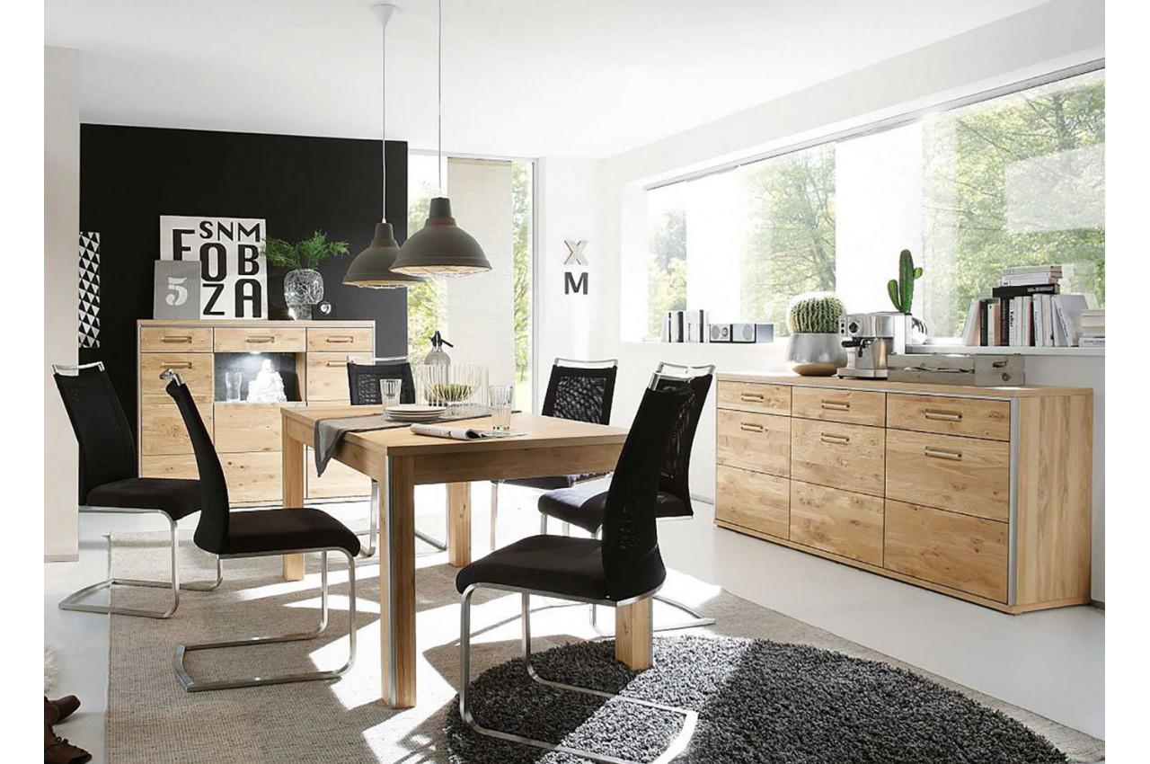 Salle manger bois compl te cbc meubles for Ensemble meubles salon salle manger