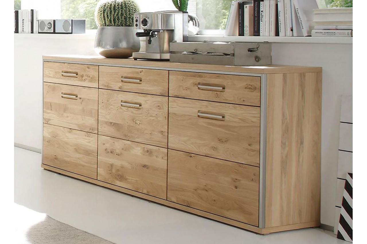 Buffet design bois massif cbc meubles - Meuble buffet bois ...