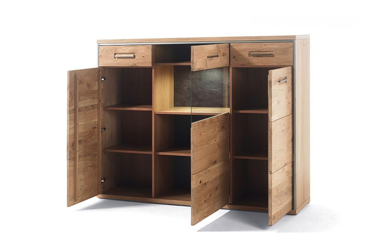 buffet haut design bois massif cbc meubles. Black Bedroom Furniture Sets. Home Design Ideas