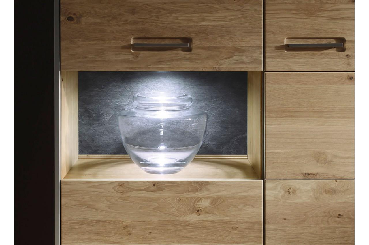 Buffet haut design bois massif cbc meubles for Meuble tv haut bois