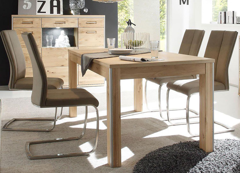 Table repas bois massif chêne bianco