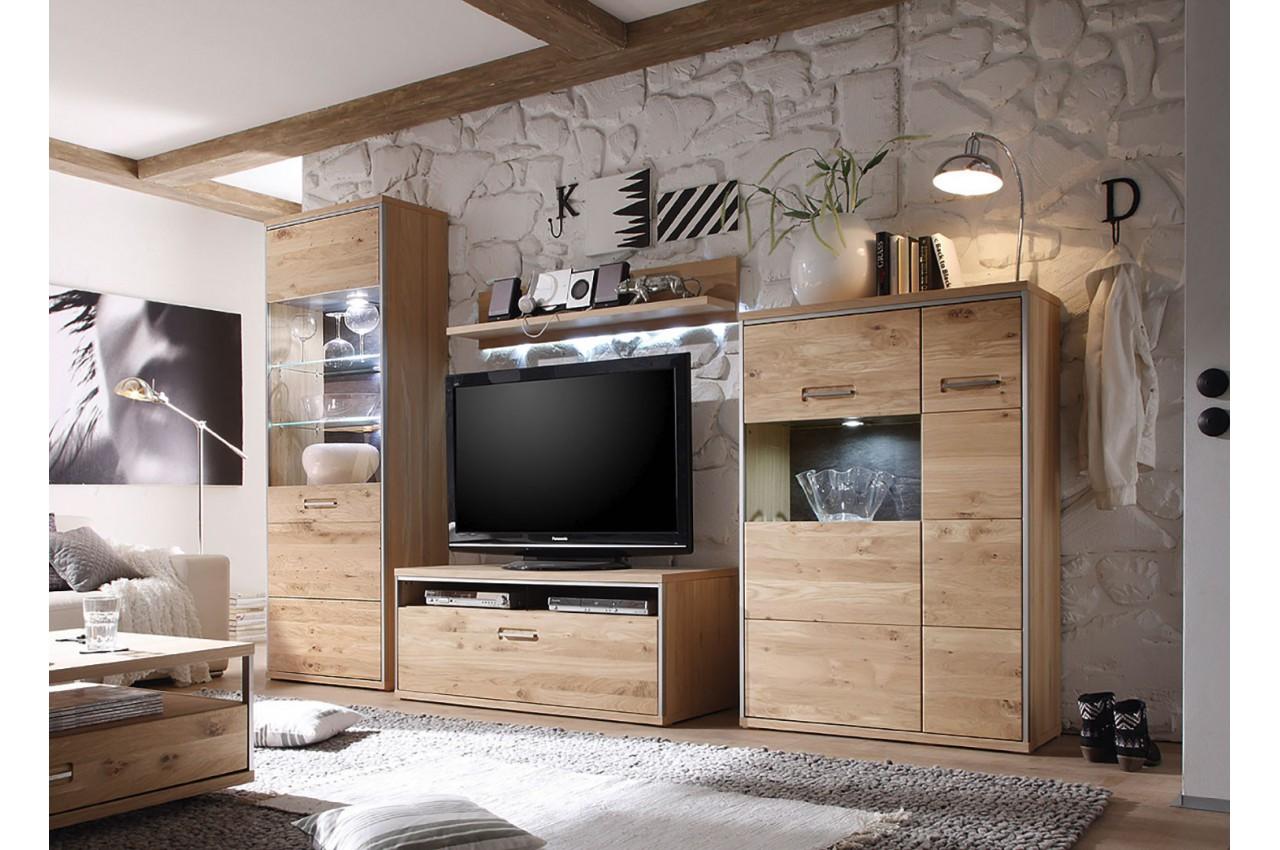 Meuble tv design bois massif cbc meubles for Meuble bois massif design
