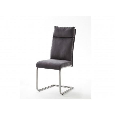 Chaises design tissu et acier