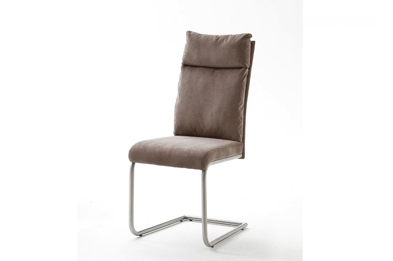 Chaises design tissu et acier cbc meubles for Chaise salle manger design pas cher