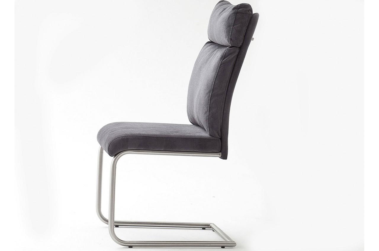 chaises design tissu et acier cbc meubles. Black Bedroom Furniture Sets. Home Design Ideas