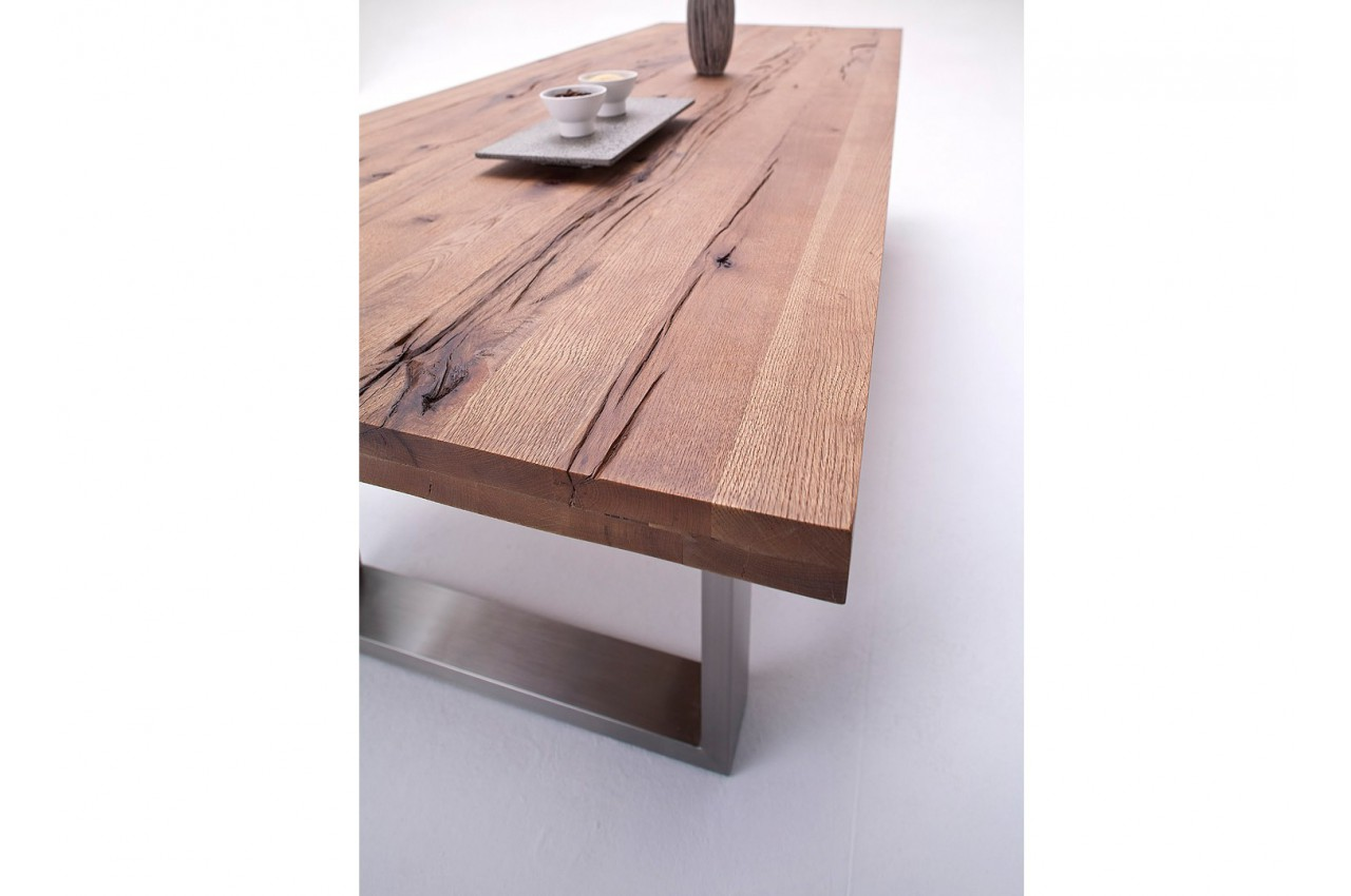 table bois massif contemporaine ch ne bassano cbc meubles