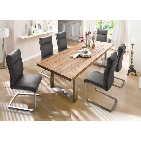 table contemporaine bois table bois massif contemporaine 10649 | table bois massif design