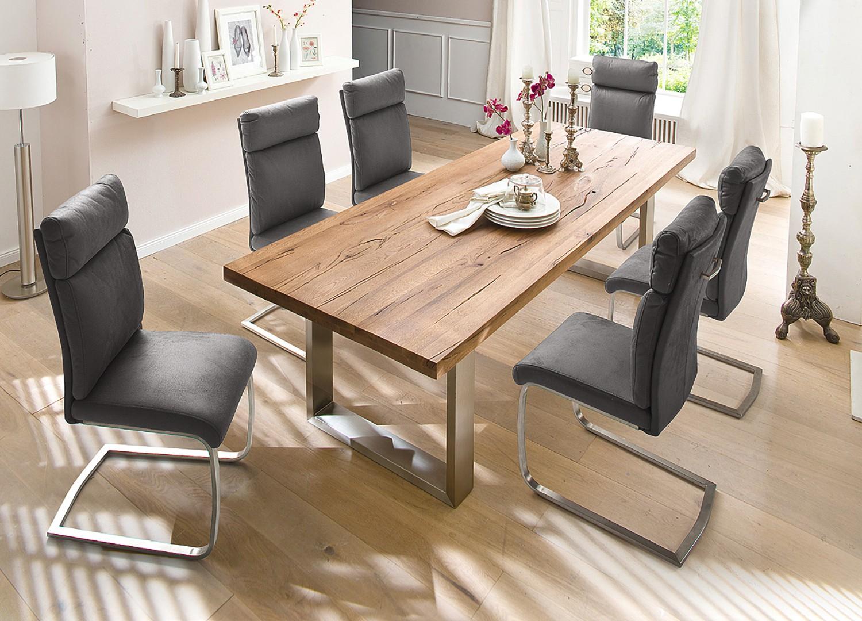 Table bois massif contemporaine chêne bassano