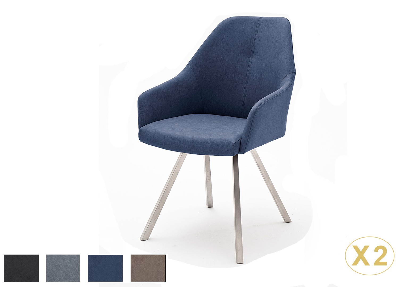 Chaises design simili cuir pied carré conique
