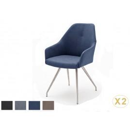 Chaises design simili cuir pied ovale conique