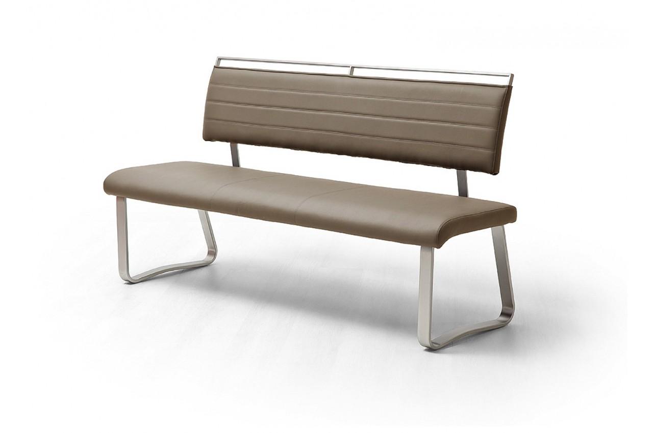 Banc design avec dossier cbc meubles - Banquette salle a manger ...