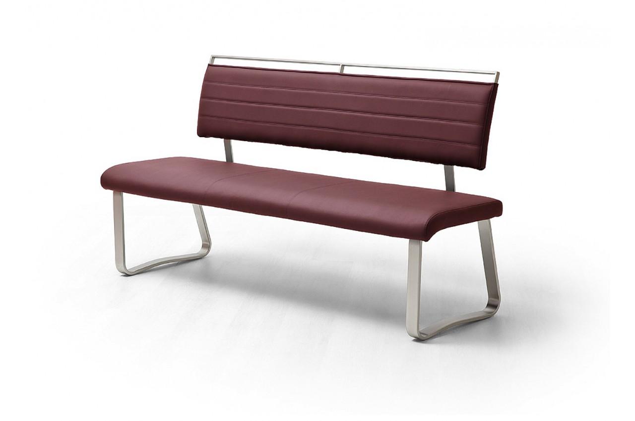 Banc design avec dossier cbc meubles - Salle a manger avec banc ...