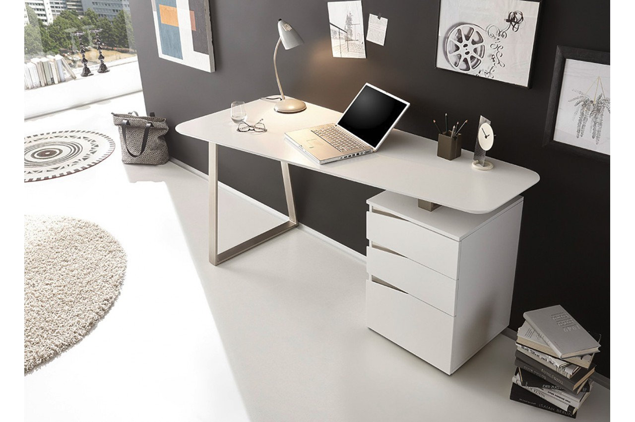 bureau blanc cbc meubles. Black Bedroom Furniture Sets. Home Design Ideas