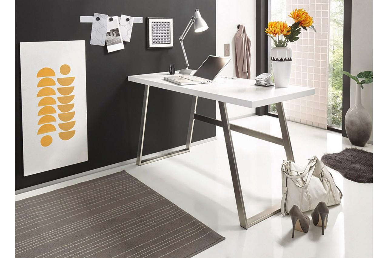 Bureau blanc pas cher cbc meubles for Article bureau pas cher