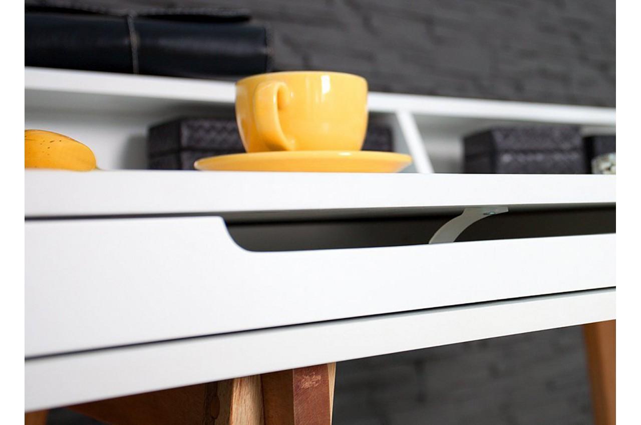 bureau scandinave blanc et bois cbc meubles. Black Bedroom Furniture Sets. Home Design Ideas