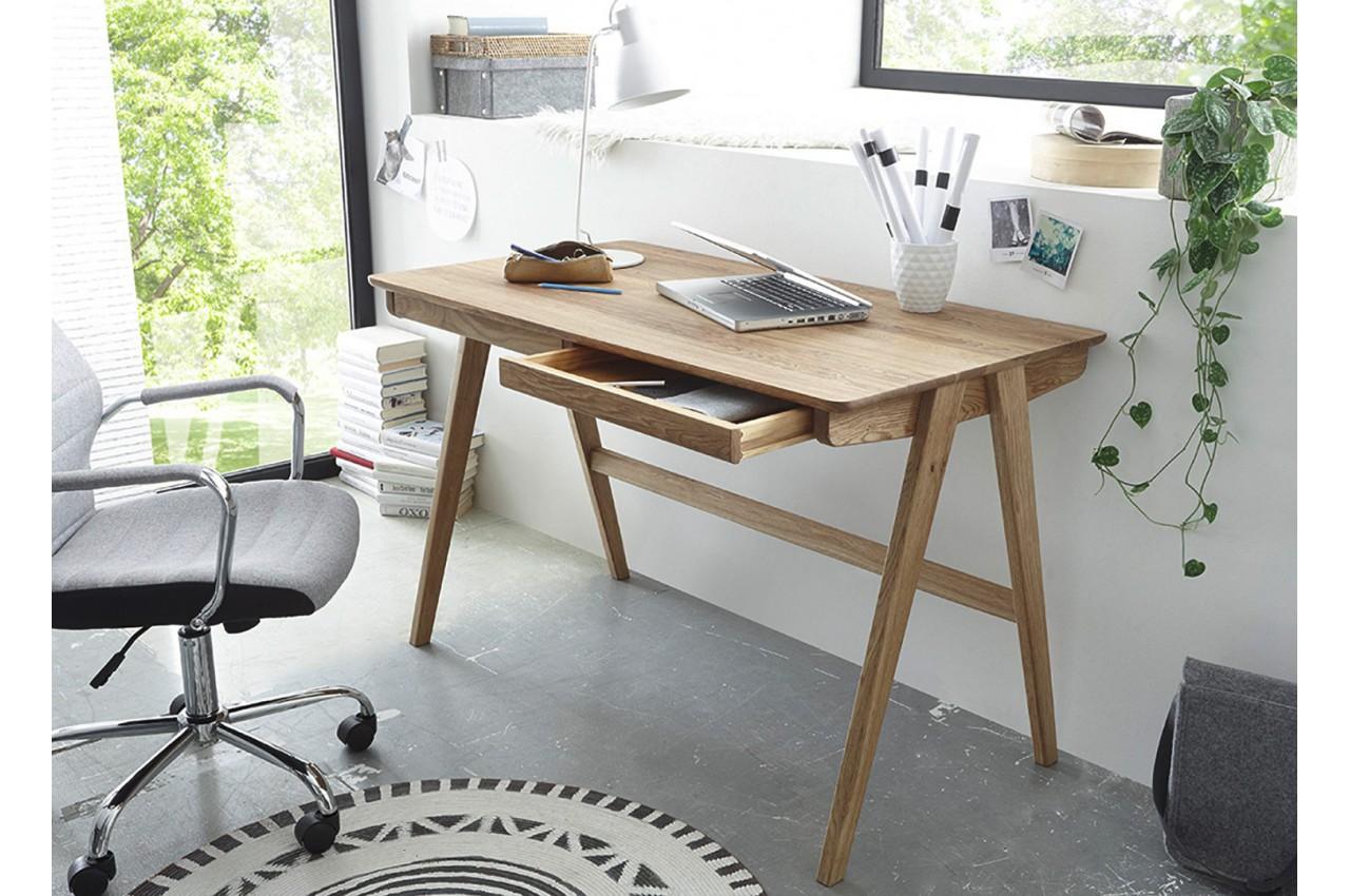 bureau scandinave bois massif cbc meubles. Black Bedroom Furniture Sets. Home Design Ideas