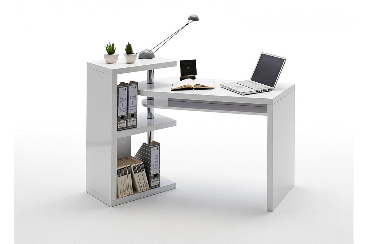 bureau design blanc laqu cbc meubles. Black Bedroom Furniture Sets. Home Design Ideas