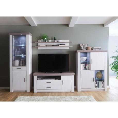 Meuble TV bois blanc