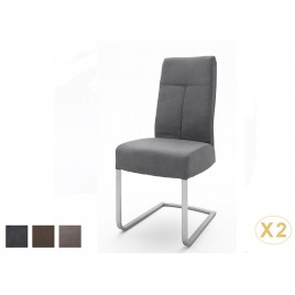 Chaises design simili aspect cuir de buffle