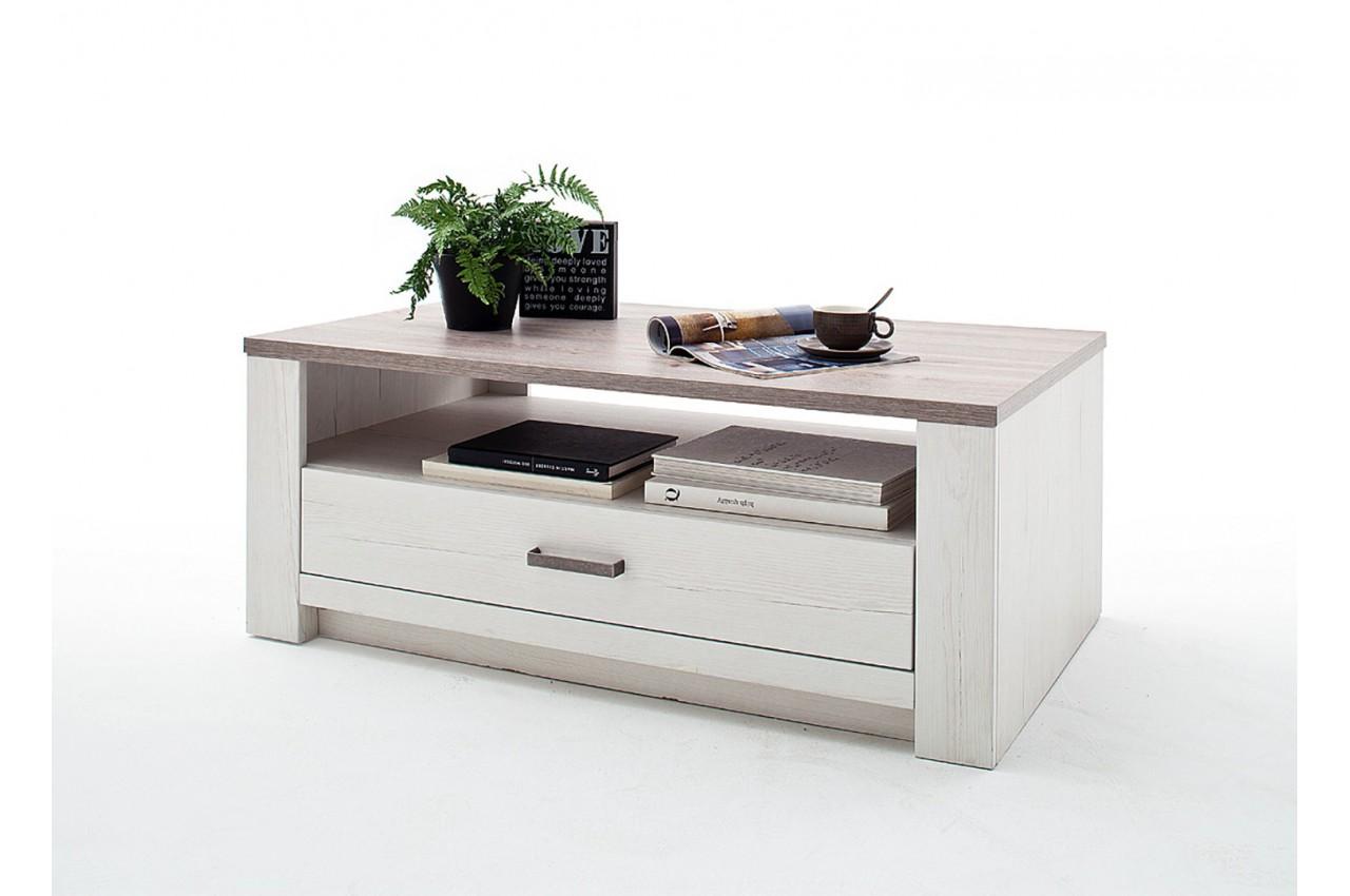 table basse rectangulaire bois cbc meubles. Black Bedroom Furniture Sets. Home Design Ideas